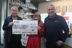 Whippys cheque for charity